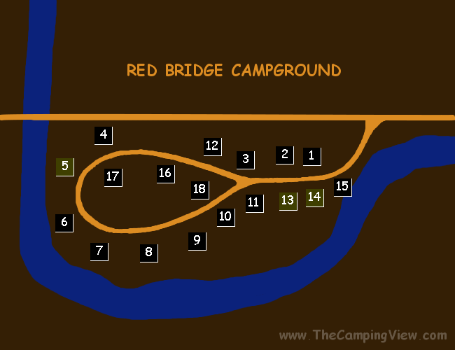 RED BRIDGE CAMPGROUND ; Red Bridge ; Red Bridge Campground@48.07104916518678,-121.65125727653503